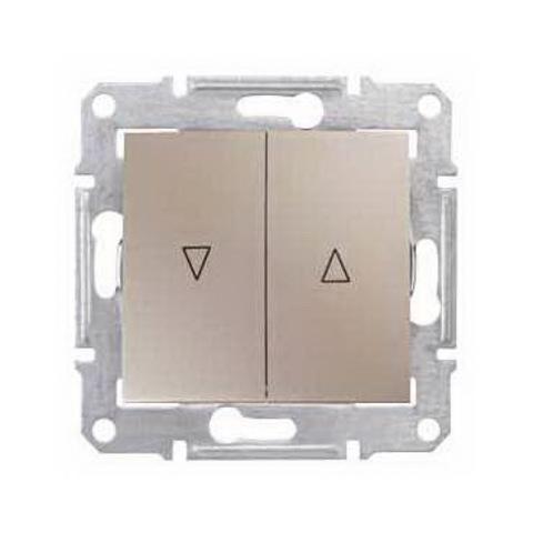 Выключатель для жалюзи с механической блокировкой 10А. Цвет титан. Schneider Electric Sedna. SDN1300368