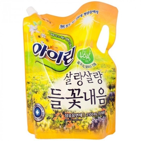 Кондиционер для белья Айрин Полевые цветы Aekyung Irin Soft Yellow 2,1 л в мягкой упаковке
