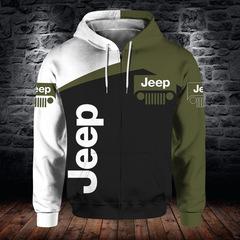 Толстовка утепленная с молнией 3D принт, Jeep (3Д Теплые Худи с молнией Джип) 02