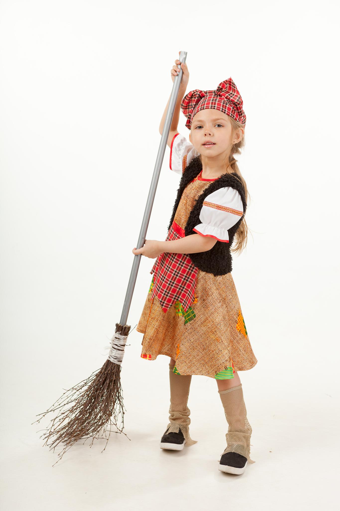 1019  Карнавальный костюм детский Баба Яга