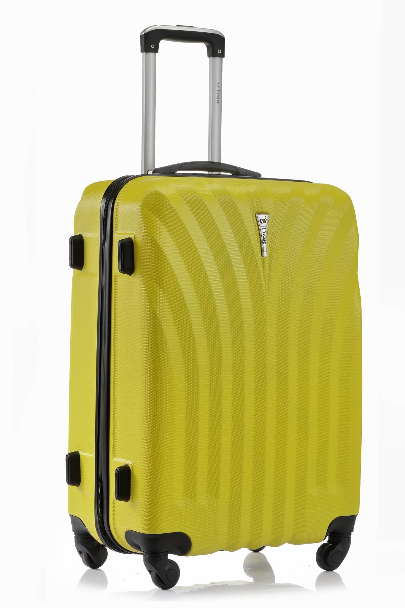 Чемодан со съемными колесами L'case Phuket-20 Желтый (S+)