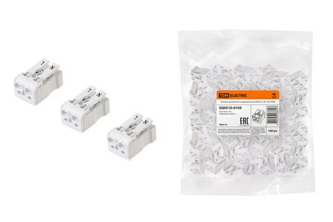 Клемма пружинная соединительная КСП2-L+N, 16 A TDM