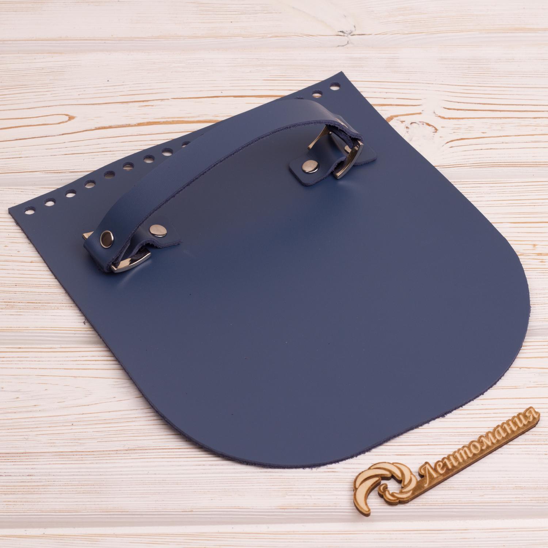 """Вся фурнитура Клапан для сумочки с ручкой кожаный """"Синий"""" IMG_4328.JPG"""