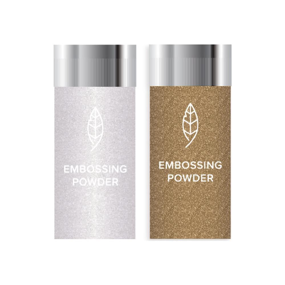 Пудра для эмбоссинга We R Memory Keepers Glue Quill Embossing Powder -2 шт -Clear & Gold