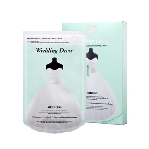 Маска MERBLISS Wedding Dress Illumination Ampoule Mask 5ea 5 шт.