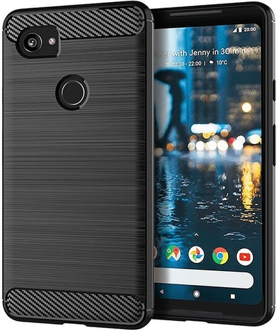 Чехол Google Pixel2 XL цвет Black (черный), серия Carbon, Caseport
