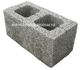 Блок керамзитовый двух пустотный
