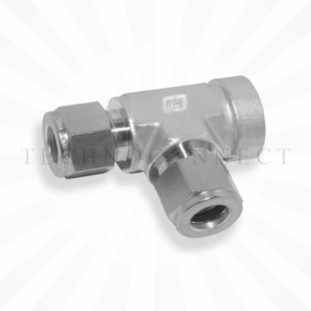 CRTA-6M  Тройник - адаптер проходной: фитинг 6мм- присоедин. фитинг  6 мм