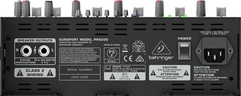 Звукоусилительные комплекты Behringer PPA200