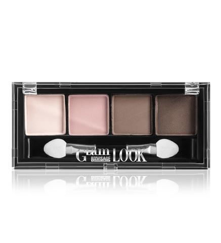 LuxVisage Glam Look Матовые тени для век 4-х цветные тон 1 (молочный  шоколад)