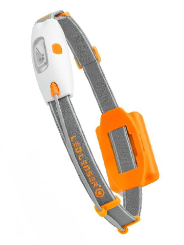 Фонарь светодиодный налобный LED Lenser NEO оранжевый, 90 лм., 3-ААА