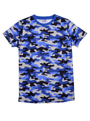 BK1291F-2 футболка для мальчиков, камуфляж синий