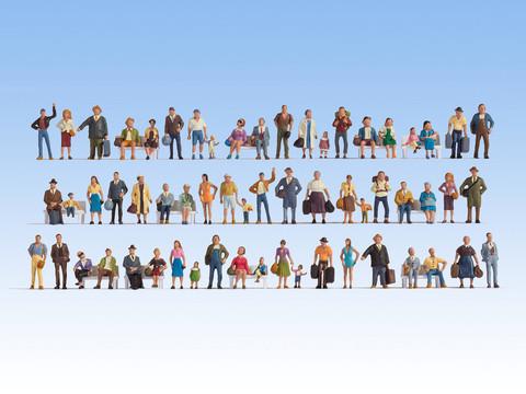 Большой набор фигурок (60 человек без скамеек)
