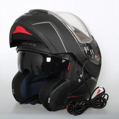 Шлем-модуляр - MT Atom Black Matt - с подогревом стекла