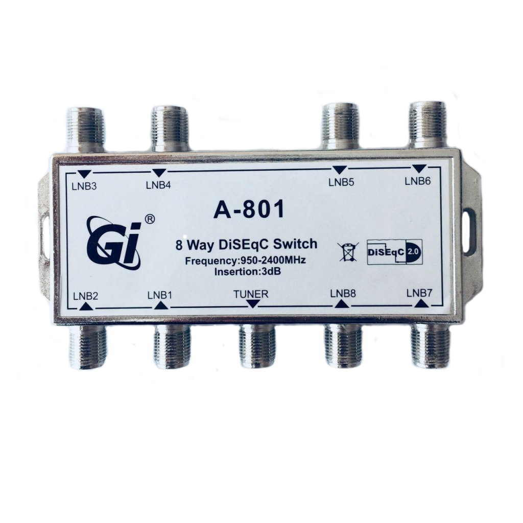 DiSEqC Switch Gi A-801 8 in 1