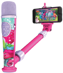 Тролли детский Микрофон селфи палка — Trolls Selfie Star video recording mic