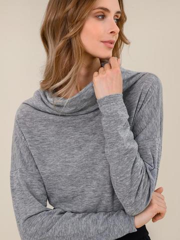 Женский джемпер светло-серого цвета из 100% шерсти - фото 3