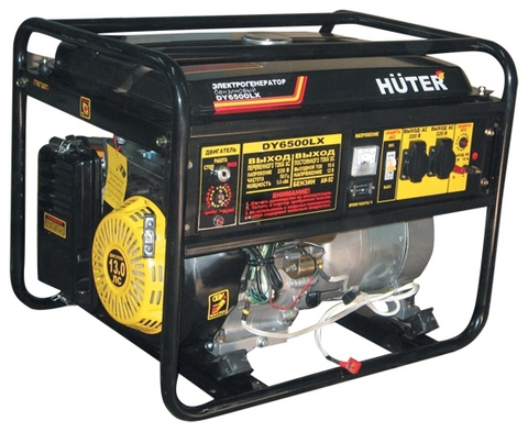 Генератор Huter DY6500LX с колёсами