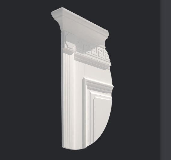 Декоративная планка Д2 с капителью К1