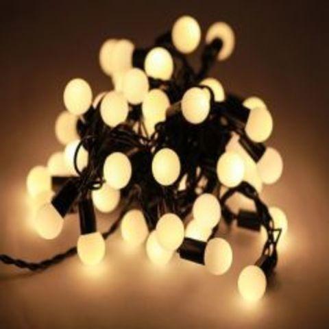 Светодиодная гирлянда шарики LED 10 метров нить sreing