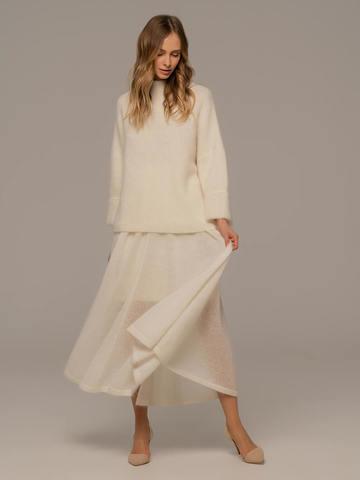 Женская юбка белого цвета - фото 2