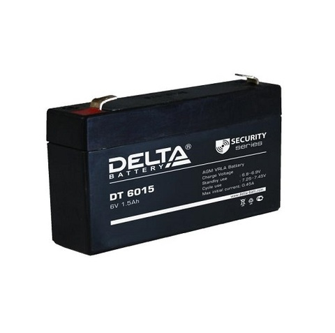 DT 6015 аккумулятор 6В/1.5Ач Delta