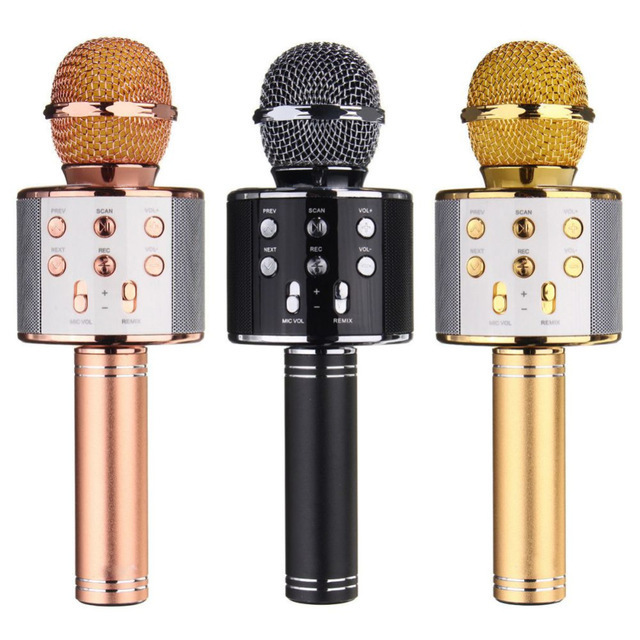 Популярные товары Беспроводной караоке-микрофон WS-858 ws858-Bluetooth-1.jpg