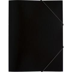 Папка на резинке Attache Economy A4 пластиковая черная (0.45 мм, до 300 листов)