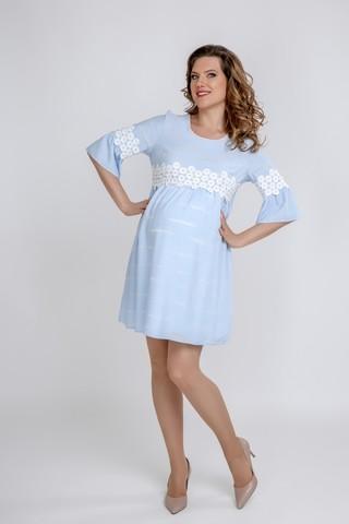 Платье для беременных 09587 светло-голубой