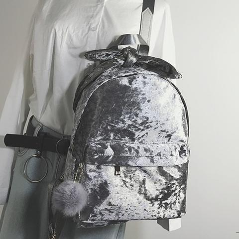 Рюкзак бархатный