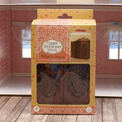 ЯиГрушка Шкаф для спальни с двумя дверцами и 3-мя вешалками (коричневый) арт. 59424