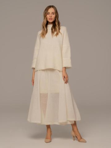 Женская юбка белого цвета - фото 3