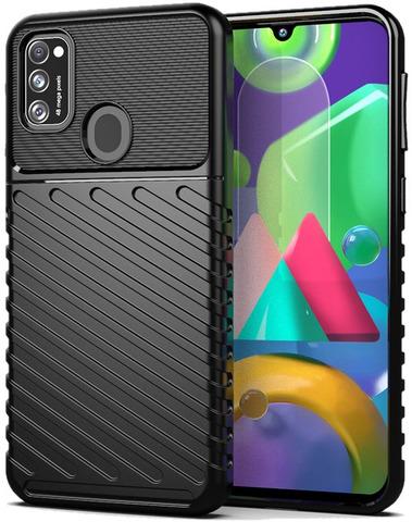 Чехол черного цвета для Samsung Galaxy M21, серия Onyx от Caseport