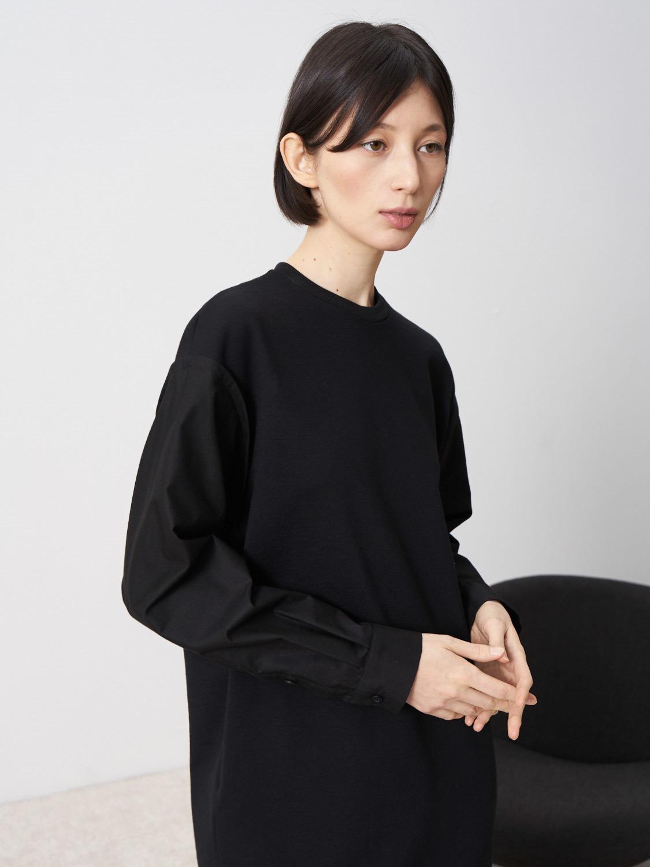 Платье Octavia с рукавами из хлопка, Черный