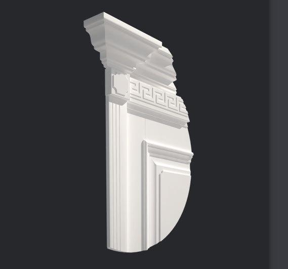 Декоративная планка Д2 с капителью К3