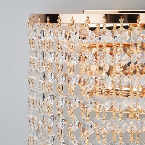 Бра с хрусталем 3102/2 золото / прозрачный хрусталь