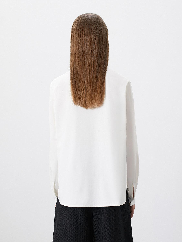 Рубашка June классическая с разрезами по бокам, Белый