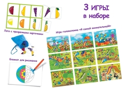 Развиваем память с игрой IQ лото Половинки (комплект из 3 игр), Айрис Пресс