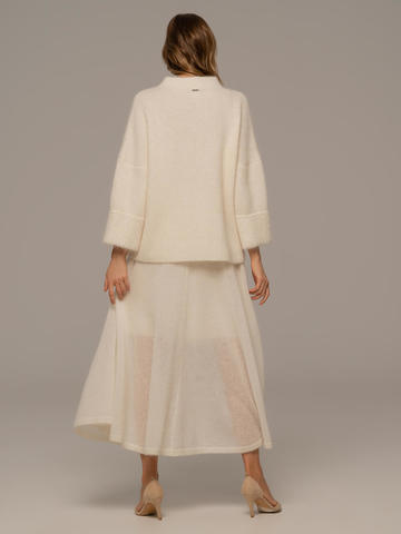 Женская юбка белого цвета - фото 4