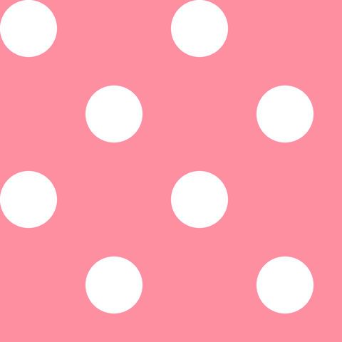 Креп сатин светло-розовый в белый горох 1 см