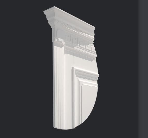 Декоративная планка Д2 с капителью К2