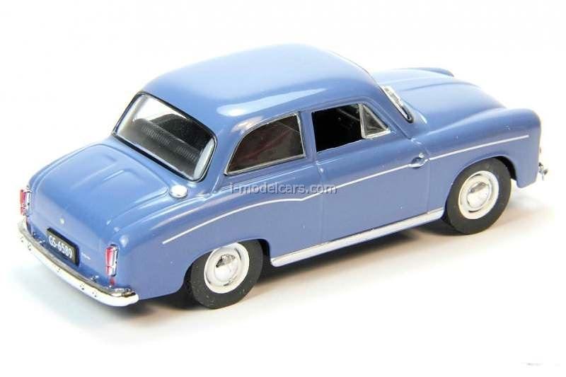 Syrena 102S blau weiß Blister 1:43 Altaya Modellauto