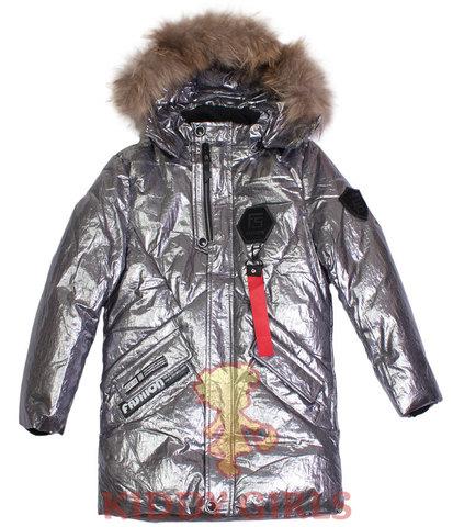 Удлиненная куртка для девочки Silver Fashion 817
