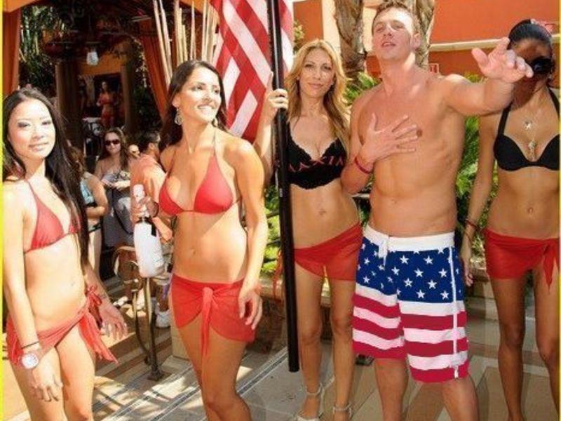 Мужские плавательные шорты с американским флагом Aussiebum US Flag Shorts classic