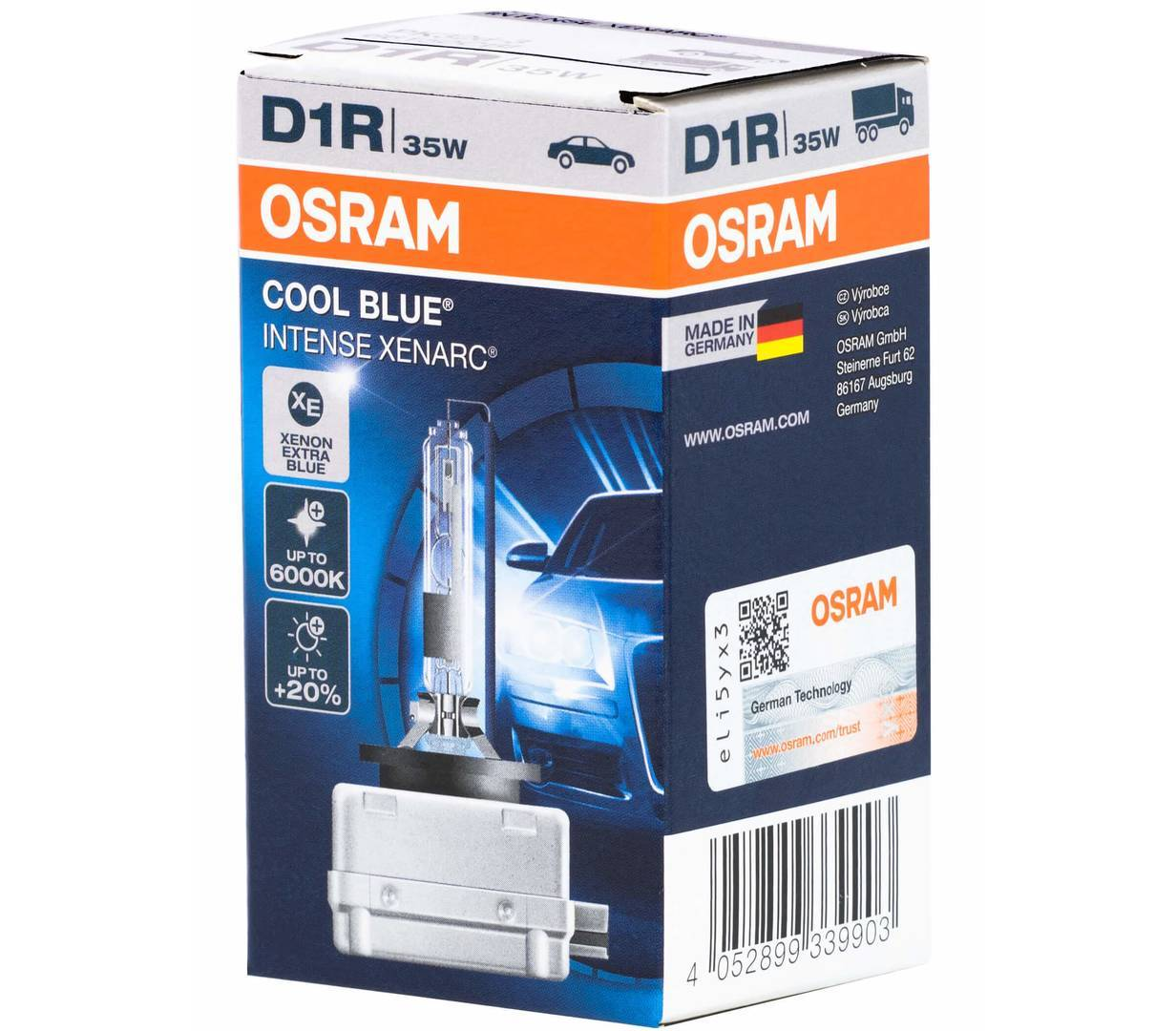 Ксеноновая лампа OSRAM D1R XENARC COOL BLUE INTENSE