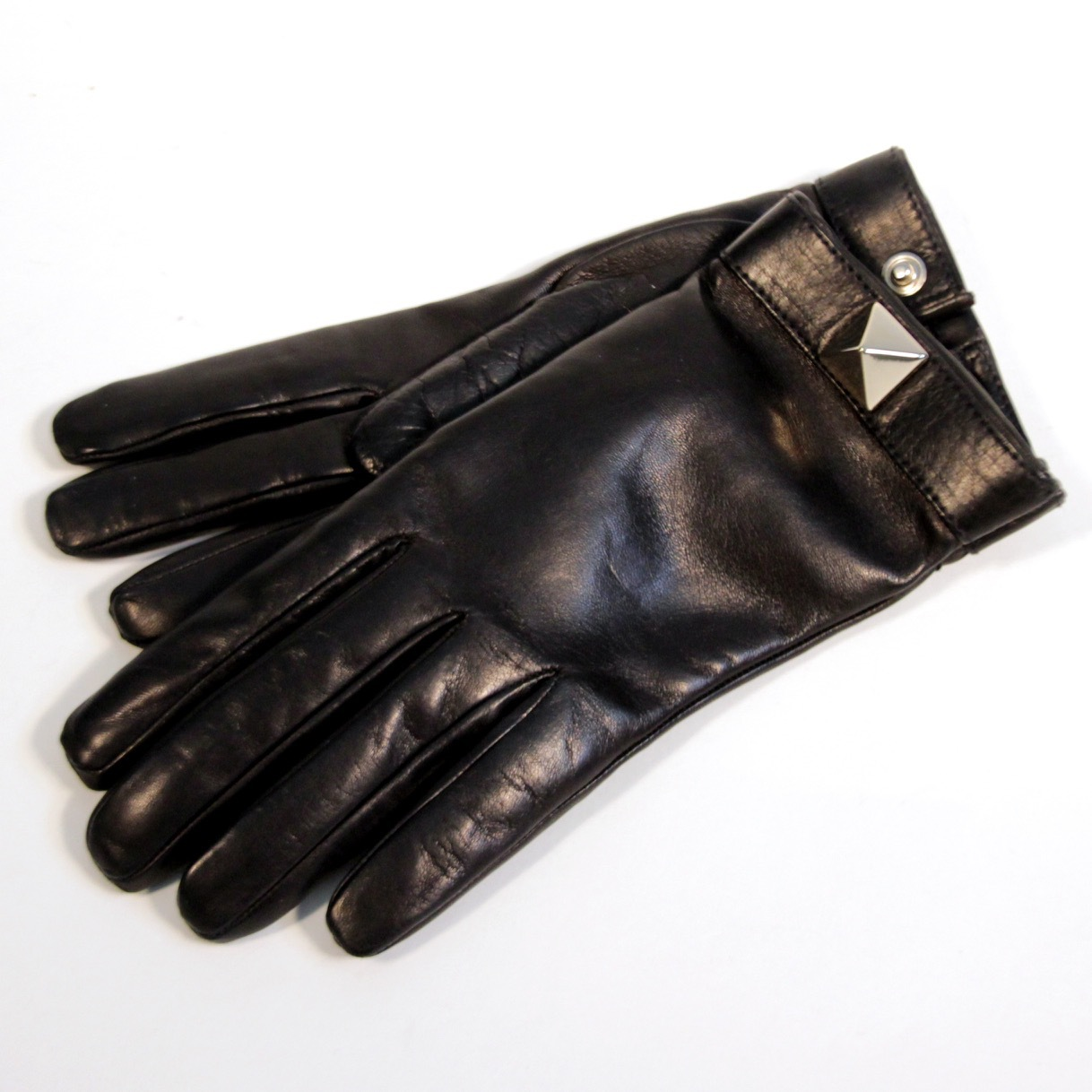 Перчатки. Цвет черный/синий VALENTINO