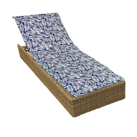 Подушка на шезлонг Пальма синий уличная коллекция