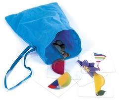 Удобный мешочек для хранения игры IQ лото Половинки (комплект из 3 игр), Айрис Пресс