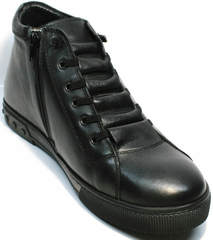 Теплые кеды мужские кожаные Ridge 6051 X-16Black