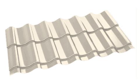 Металлочерепица Арарат Полиэстер RAL 1015 Слоновая кость 0,45 мм